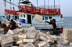 Hua Hin, Thailand: Thai Fishermen Stock Images