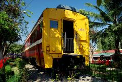 Hua Hin, Thailand: Thaise Spoorwegentrein Stock Foto