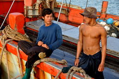 Hua Hin, Thailand: Two Thai Fishermen Stock Images