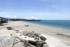 Hua Hin town beach Royalty Free Stock Photo