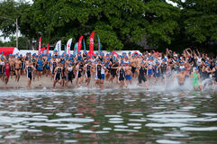 Hua Hin Triathlon competitors Royalty Free Stock Photos