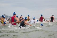 Hua Hin Triathlon competitors Stock Photos