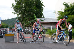Hua Hin Triathlon competitors Stock Image