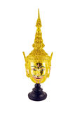 Hua Khon Ancient Thai Show Head Mask isolated on white backgro Stock Image