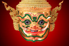 Hua Khon (Ancient Thai Show Mask) use in Khon Thai classical sty Royalty Free Stock Image