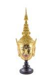 Hua Khon (forntida thailändsk showmaskering) Royaltyfria Foton