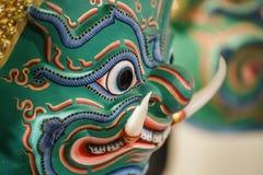Hua Khon (máscara tradicional tailandesa) Foto de archivo libre de regalías