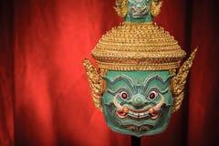 Hua Khon (maschera tradizionale tailandese) Fotografia Stock
