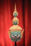Hua Khon (maschera tradizionale tailandese) Fotografia Stock Libera da Diritti