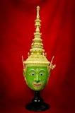 Hua Khon (masque thaïlandais antique d'exposition) Photo libre de droits