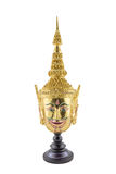 Hua Khon (masque thaïlandais antique d'exposition) Photos libres de droits