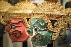 Hua Khon (masque traditionnel thaïlandais) Photo stock