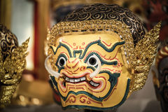 Hua Khon (masque traditionnel thaïlandais) Photographie stock