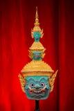 Hua Khon (masque traditionnel thaïlandais) Photographie stock