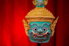 Hua Khon (Tajlandzka Tradycyjna maska) Fotografia Royalty Free