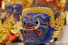 Hua Khon (Tajlandzka Tradycyjna maska) Obrazy Royalty Free