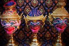 Hua Khon Thai Traditional Mask Fotos de archivo libres de regalías