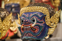 Hua Khon (Thai Traditional Mask) Stock Images