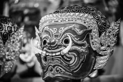 Hua Khon (Thai Traditional Mask) Royalty Free Stock Photography