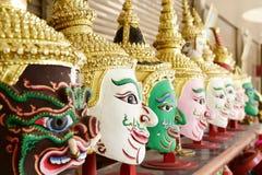 Hua Khon (Thai Traditional Mask) Used in Khon Royalty Free Stock Photo