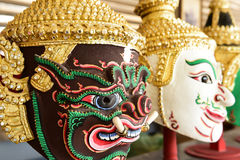Hua Khon (Thai Traditional Mask) Used in Khon Stock Images