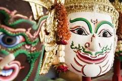 Hua Khon (Thai Traditional Mask) Used in Khon Royalty Free Stock Photos