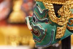 Hua Khon (thailändsk traditionell maskering) Arkivbild