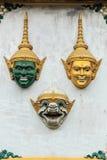 Hua Khon Używać w Khon - Tajlandzki tradycyjny (Tajlandzka Tradycyjna maska) obrazy royalty free