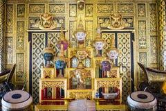 Hua Khon Używać w Khon - Tajlandzki tradycyjny taniec Ramayana epopei saga (Tajlandzka Tradycyjna maska) zdjęcia royalty free