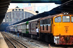 Hua Lam Phong railway Royalty Free Stock Images