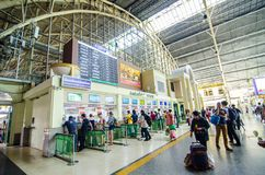 Hua Lamphong, or Bangkok Train Station, is the main terminal to northern, eastern, northeastern and southern. royalty free stock photos