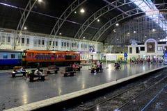 Hua Lamphong Railway Station Bangkok, Thailand royaltyfria foton