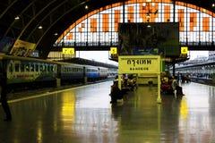 Hua Lamphong Railway Station Bangkok, Thailand arkivfoton
