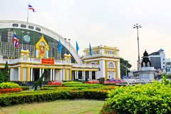 Hua Lamphong Railway Station Bangkok, Thailand royaltyfri foto