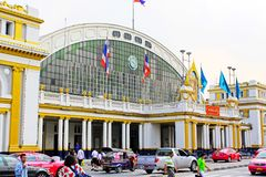 Hua Lamphong Railway Station Bangkok, Thailand royaltyfri bild