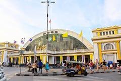 Hua Lamphong Railway Station Bangkok, Thailand royaltyfri fotografi