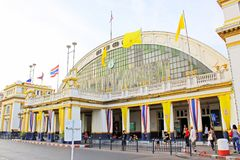 Hua Lamphong Railway Station Bangkok, Thailand royaltyfria bilder