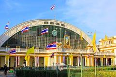 Hua Lamphong Railway Station Bangkok, Thailand arkivfoto