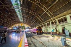 Hua Lamphong Railway Station in Bangkok, Thailand. Stock Photos