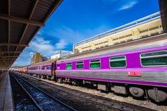 Hua Lamphong Railway Station in Bangkok, Thailand. Royalty Free Stock Photo