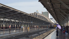 Hua Lamphong Station. Is station that have train to transport Royalty Free Stock Image