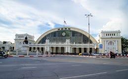 Hua Lamphong-Station oder Bahnhof Bangkoks ist der Hauptausdruck lizenzfreie stockfotos