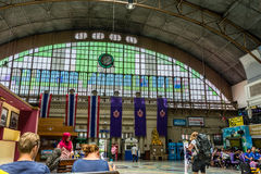 Hua Lampong Train Station Foto de Stock