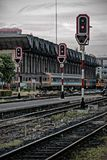 Hua Lum Pong train station Bangkok, Thailand. Transportation Royalty Free Stock Photos