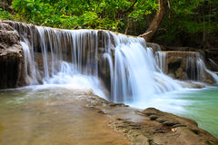 Hua Mae Kkamin Water Fall, Kanchanaburi, Thailand  Royalty Free Stock Photos