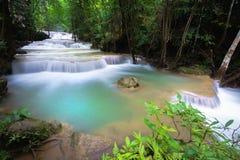 Hua mea khamin water falls  in Erawan National Park, Kanchanabur Stock Photos