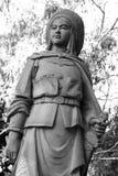 Hua Mu Lan. Statue of Hua Mu Lan royalty free stock photos