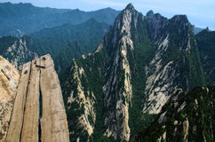 Hua Shan cliff-side path, China Royalty Free Stock Photos