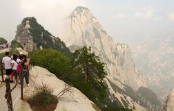 Hua Shan Mountain in China Stock Photography