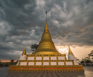 Hua Tanon Pagoda in Thailand. Golden Pagoda at Songklha Province of South Thailand stock image